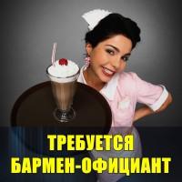 В караоке-бар требуются бармен-официант девушка