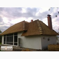 Камышовая крыша, беседка, камыш, камышовые плиты(маты), колодцы