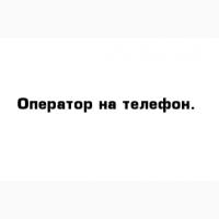 ОПЕРАТОР НА ТЕЛЕФОН в дружный коллектив